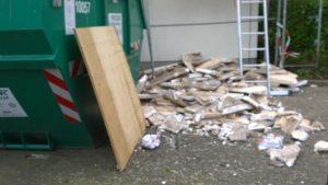 Styropor darf nicht mehr in den Bauschutt-Container